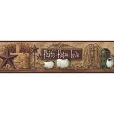 Better Homes and Gardens Faith-Hope-Love Border - Walmart.com