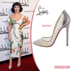 Katy Perry in Christian Louboutin Crystal-Embellished Body Strass Pumps
