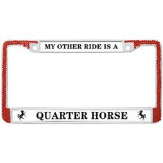 RATHER BE RUNNING Steel Heavy Chrome License Plate Frame RED