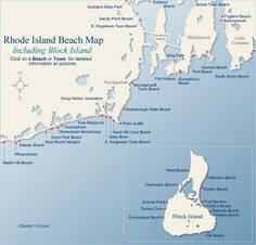 map of beaches in rhode island, charlestown was my favorite i visited :)