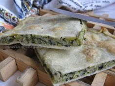 Torta verde ligure con riso , zucchine, biete...