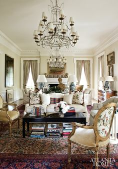 Living Room - Stan Topol & Associates, Inc. - Knollwood - 2012 Atlanta Symphony Associates' Decorators' Showhouse & Gardens
