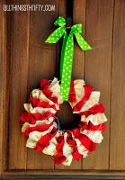 Love this wreath.  You can make in different colors not just for christmas