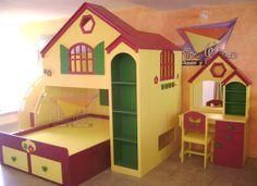 Camas para martu on pinterest castle bed kid furniture for Recamaras infantiles queretaro