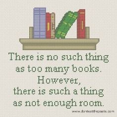How true - never enough room