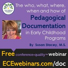 FREE Pop-up Webinar Why Document in Programs? How pedagogical documentation informs practice with children & families, by and sponsored by Early Childhood Program, Forms Of Communication, Investigations, Programming, Ale, Families, English, Explore, How To Plan