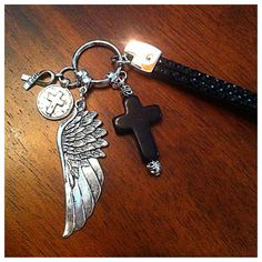 Christian Keychain Christian Key Chain Cancer by DorysBoutique, $14.00