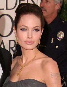 Angelina's make-up is amazing--those eyebrows are so glamorous! #wedding #bridal #make_up