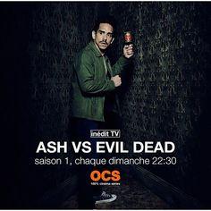 Une seule chose à retenir : dimanche 22h30 sur OCS !#ashvsevildead #groovy #demonhunter #evildead #samraimi #serietv #starz