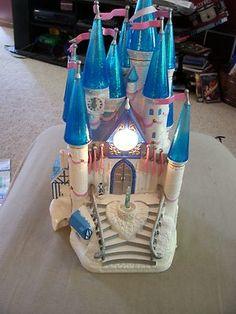 Cinderella Castle Playset Polly Pocket Figs Light Sounds Princess Trendmasters