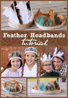 Feather Headbands - Sugar Bee Crafts