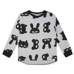 Turtledove London Animal Mask Print Sweatshirt. Little Trooper