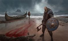 Hey reddit, I painted this viking painting! what do you think?