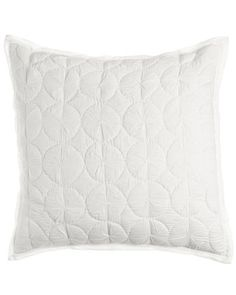 Marina Quilted Voile European Sham - Pine Cone Hill