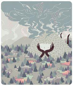 Rain Deity by MARINA MUUN, via Behance