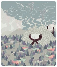 Rain Deity by MARINA MUUN, via Behance