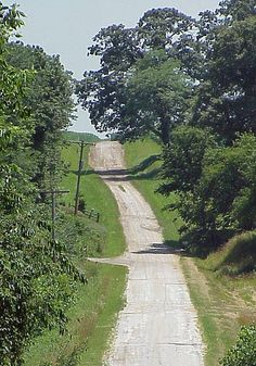 Rural Sangamon County, Illinois -  A Country Road by myoldpostcards, via Flickr
