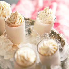 A dash of cinnamon adds spice to these Brandy-Kissed Snowflakes. Get 22 more festive drink recipes: http://www.bhg.com/christmas/recipes/sparkling-holiday-drinks/?socsrc=bhgpin113012brandysnowflakes=14