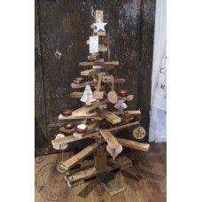 Kerstboom 3-d van sloophout