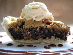 Nestle Toll House Chocolate Chip Pie Recipe from Food.com  - 304516... use less butter (only 1/2 maybe) and add spoon of vanilla extract
