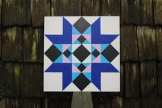 Church Window - Barn Quilt Square painted on wood