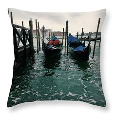 "Other Venice  Throw Pillow by Marina Usmanskaya.  Our throw pillows are made from 100% spun polyester poplin fabric and add a stylish statement to any room.  Pillows are available in sizes from 14"" x 14"" up to 26"" x 26"".  Each pillow is printed on both sides (same image) and includes a concealed zipper and removable insert (if selected) for easy cleaning.  #MarinaUsmanskayaFineArtPhotography, Art for Home, Art Prints, Venice"