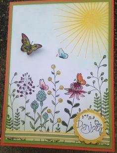 SU: Flowering Fields; Kinda Eclectic.  (Pin#1: Flowers: SU-Stamped.  Pin+: Nature: Sunshine).