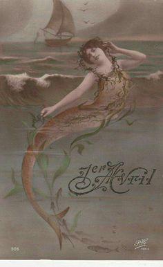 Mermaid. Circa 1908