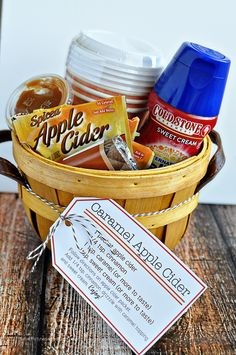 Perfect for fall - Caramel Apple Cider Kit with Printables from www.thirtyhandmadedays.com More
