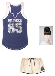 """Movie Night with Dipper"" by maryvarleyrox ❤ liked on Polyvore featuring River Island and Tommy Hilfiger"