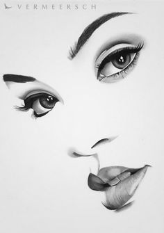 Pencil Portrait A minimalistic portrait drawing from Rihanna - Girl Drawing Sketches, Face Sketch, Pencil Art Drawings, Realistic Drawings, Horse Drawings, Pencil Portrait, Portrait Art, Portrait Sketches, Gif Kunst