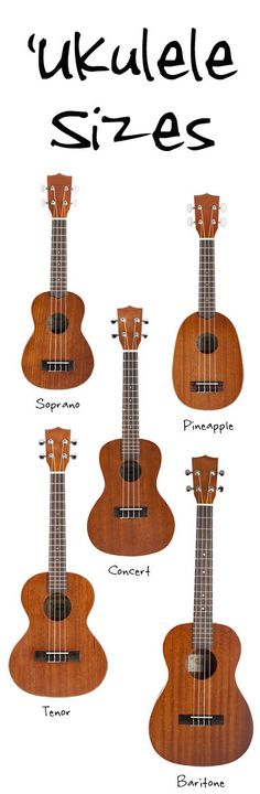 Info about the common ukulele sizes - scale, length, frets, along with a discrition of each size. A rundown of ukulele sizes from smallest to biggest.