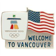 2010 Winter Olympics Welcome to Vancouver w/ USA Flag
