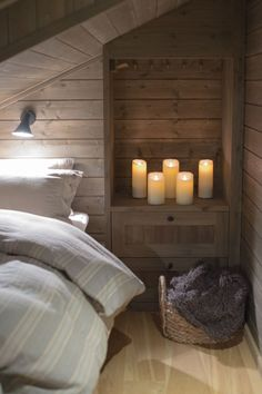 * c a b i n * s t y l e *...love the inset between the studs as it saves space!!!