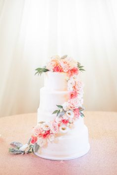 A pink floral sash: http://www.stylemepretty.com/2015/07/24/vintage-glam-minnesota-outdoor-wedding/ | Photography: Geneoh - http://geneoh.com/