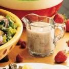 Sweet 'n' Tangy Poppy Seed Dressing....cut the fat by using yogurt for half of the oil called for in the recipe.