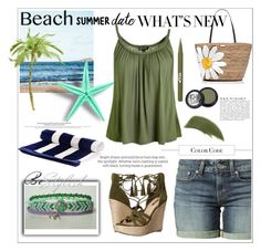 """""""Beach Date"""" by lory187 ❤ liked on Polyvore featuring Levi's, Topshop, GUESS, Kate Spade, By Terry, Stila, Paula Dorf, Anja, beach and summerdate"""