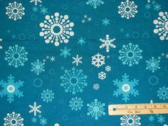 Snowflake Gnome Winterkist Blue Lecien Christmas Fabric by The 1 2 Yard BTHY | eBay