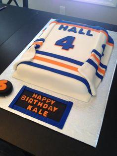 Edmonton Oilers hockey jersey cake Cake ideas Pinterest Cake