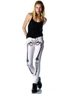 Kreepsville 666 Skelebone Jeans | Dolls Kill