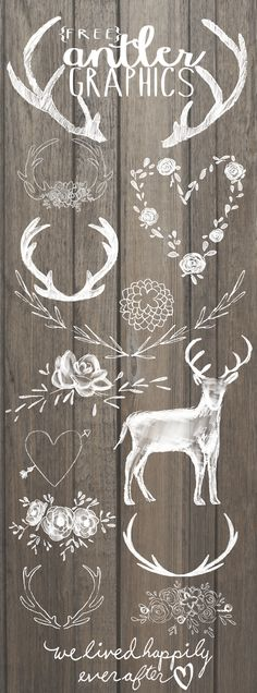 Free Antler Graphics Chalkboard Art, Chalkboard Fonts Free, Free Christmas Clip Art, Christmas Clipart Free, Christmas Fonts, Christmas Graphics, Cricut Christmas Ideas, Christmas Place Cards, Deer Silhouette Printable
