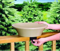 "14"" Non-Heated Bird Bath w/Deck or Pole Mount"