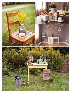 Stacked Events #decor #vintage