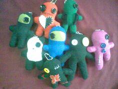 Handmade voodoo dolls