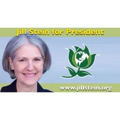 The Jill Stein for president banner from her facebook page