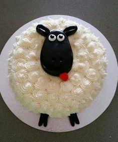 All Time Easy Cake : Baby Shower Lamb Cake Ideas Elegant Amourducake Amourducake Animal Birthday Cakes, 2 Birthday Cake, Animal Cakes, Vanilla Buttercream Icing, Sheep Cake, Lamb Cake, Black Fondant, Novelty Cakes, Cake Art
