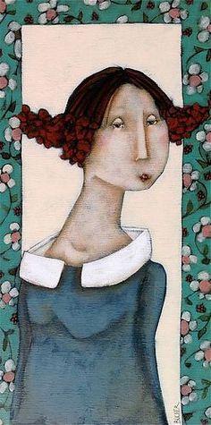 Magalie Bucher. La Demoiselle L'art Du Portrait, Portraits, Images D'art, Art Visage, Junk Art, Inspiration Art, Fashion Painting, Illustrations And Posters, Face Art