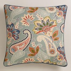 One of my favorite discoveries at WorldMarket.com: Paisley Lakeside Throw Pillow