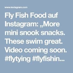 "Fly Fish Food auf Instagram: ""More mini snook snacks. These swim great. Video coming soon. #flytying #flyfishing #snooksnack"""