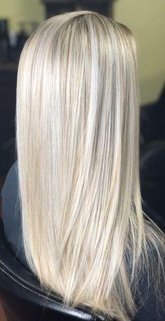 blond med slingor